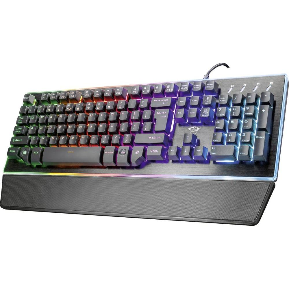 Trust HU Gamer GXT860 Thura Semi-Mechanical Gamer USB billentyűzet