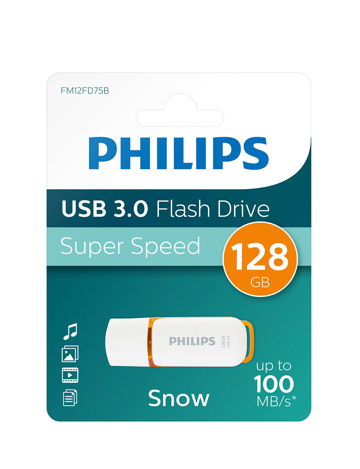 Philips 128GB Snow USB3.0 100MB/s